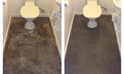 A small tiling job in Collingwood